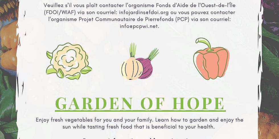 Urban Garden of Hope / Jardin d'espoir