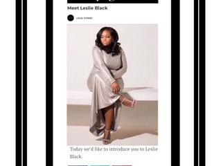 Leslie Black featured in Voyage ATL Online Magazine