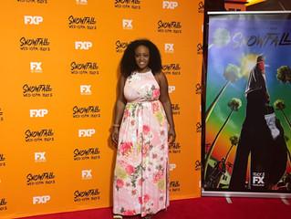Leslie Black attends John Singleton's premiere of Snowfall in Atlanta, Ga