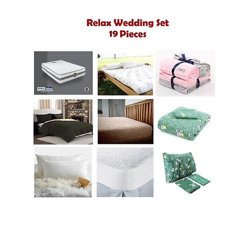 Relax Wedding Set 19 Pieces - مجموعة فرش سرير 19 قطعه