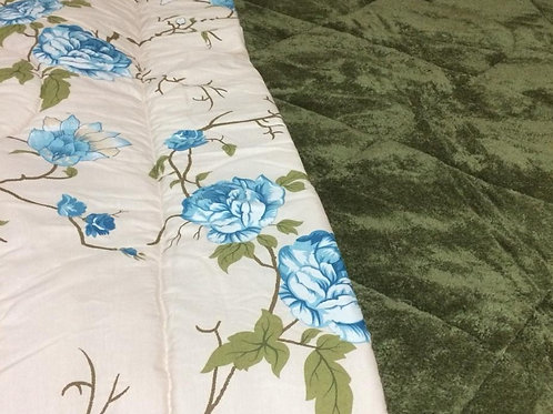 Double Face blanket quilt printed & plain -لحاف بطانيه وجهين ساده ومطبوع