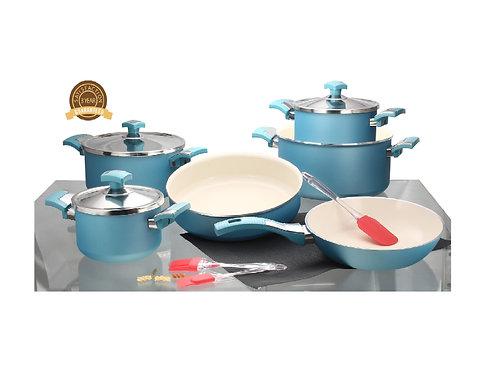 Ceramic Cooking Set of 10 Pcs -طقم حلل سيراميك, 10 قطع