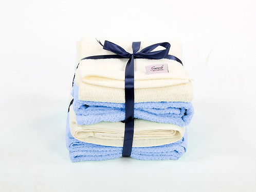4 Pcs bath towel set  - طقم بشكير 4 قطع
