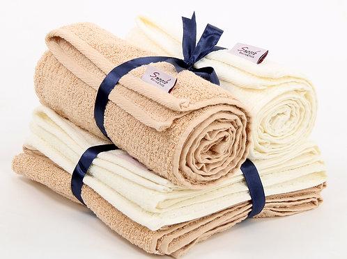 4 Pcs hand towel set  - طقم فوط 4 قطع