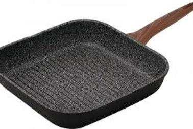 Granite grill pan PEDRINI wooden handle 28*28cm طاسة جريل جرانيت بيدريني بيد