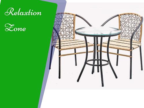 Rattan set 2 chairs + table طقم هدوء 2 كرسي + تربيزة