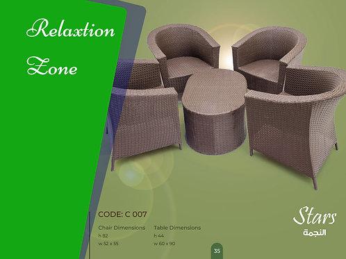 Rattan set 4 chair + table طقم  4 كرسي + ترابيزة