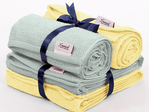 4 Pcs hand towel set  - طقم فوط 4 قطع