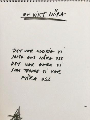 En dikt nära om då