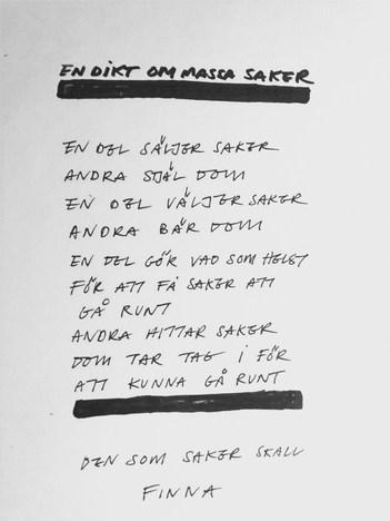 En dikt om massa saker