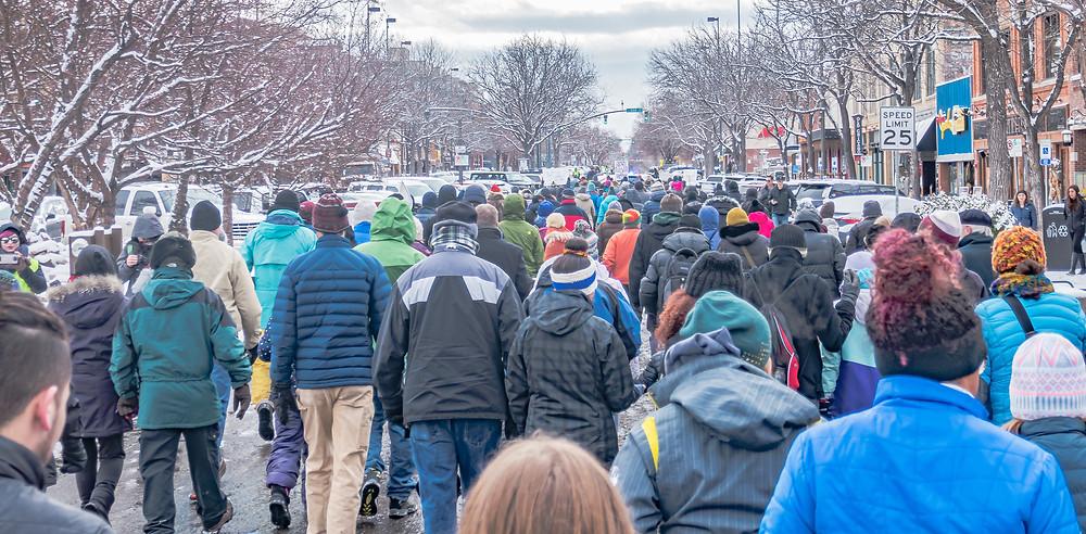 Demonstrators, Martin Luther King, Jr. Day, Fort Collins, CO