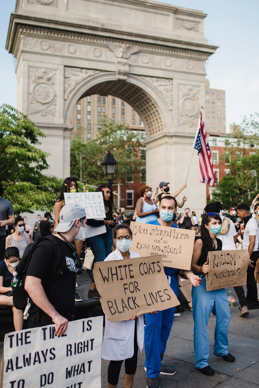 Demonstrators, Black Lives Matter, Essential Workers