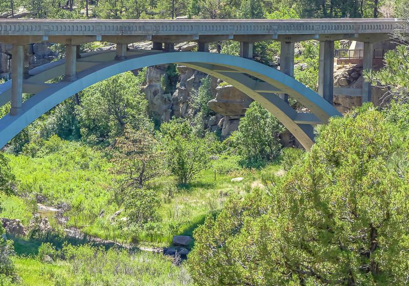 Bridge over a State Park river canyon