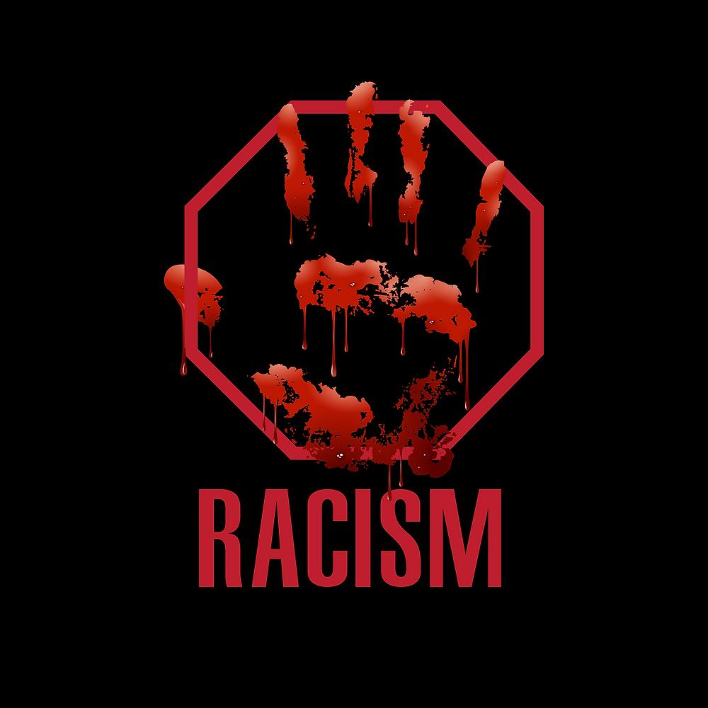 Stop Racism logo.