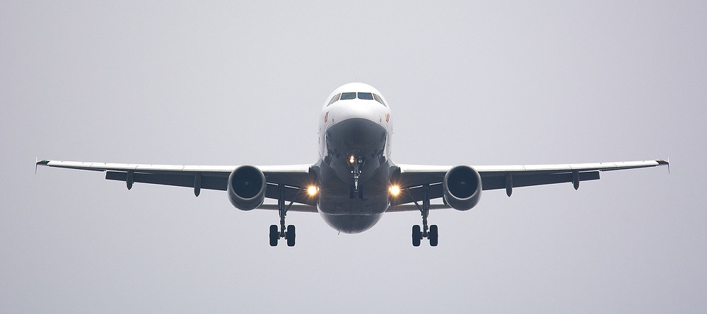 Commercial Jet Liner in Flight