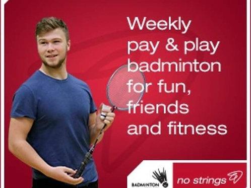 No Strings Badminton 6-7pm Friday