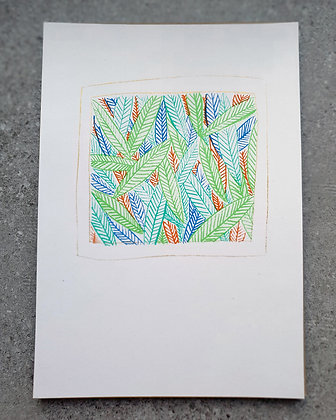 Print colored leaves on acid-free paper