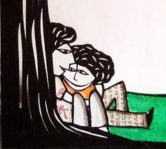 תחת עץ האהבה - פרט  |  Under the tree of love - detail