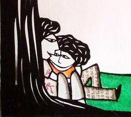 תחת עץ האהבה - פרט     Under the tree of love - detail
