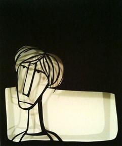 A cut out with its shadow - צללית עם הצל שלהדמות
