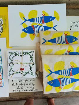 דגים ביריד  |   Print fish at the fair