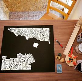 מפה של ירושלים     A map of Jerusalem