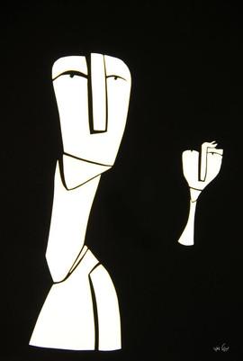 שתי דמויות     Two figures