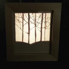 קופסת אור - מנורת לילה     Light box - night light