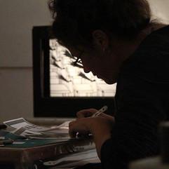 סדנת חיתוכי נייר במרכז ג׳ינוגלי לאמנות חזותית בירושלים  |  Paper cutting workshop at the Ginogli Center for Visual Arts in Jerusalem