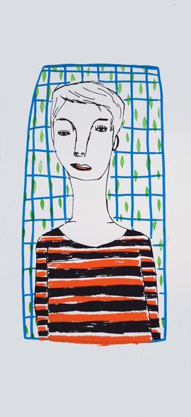 פורטרט מסגרת כחולה  |  Blue frame portrait