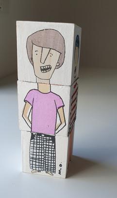 Wooden Cubes  |  קוביות עץ צבעוניות