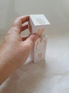 קוביות עץ לבנות | White wooden blocks