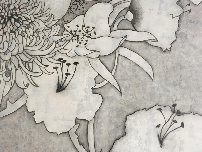 Motif floral (détail)