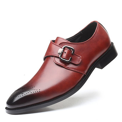 2020 Men Dress Shoes Handmade British Brogue Style Leather Oxfords