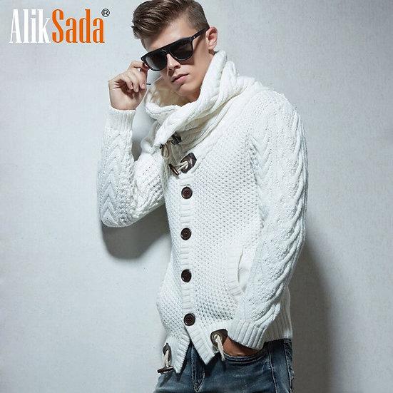 Men  Autumn Winter New Fashion Fleece Cardigan Sweater