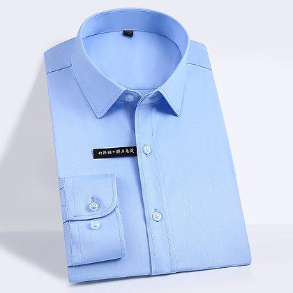 Men's Easy Care Solid Bamboo Fiber Dress Shirt