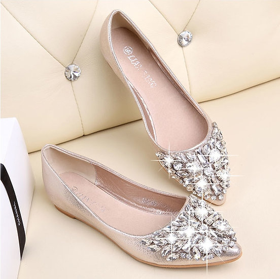 Sheila Jeweled Flats