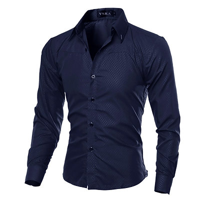 Mens Solid Long Sleeve Shirt
