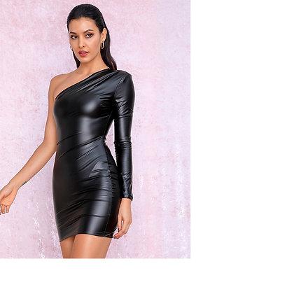 Leah Faux Leather Dress