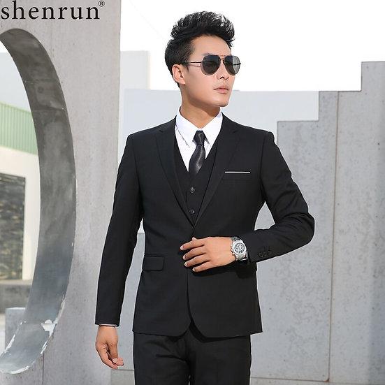 Shenrun Men Suits Slim Business Formal Casual Classic Suit