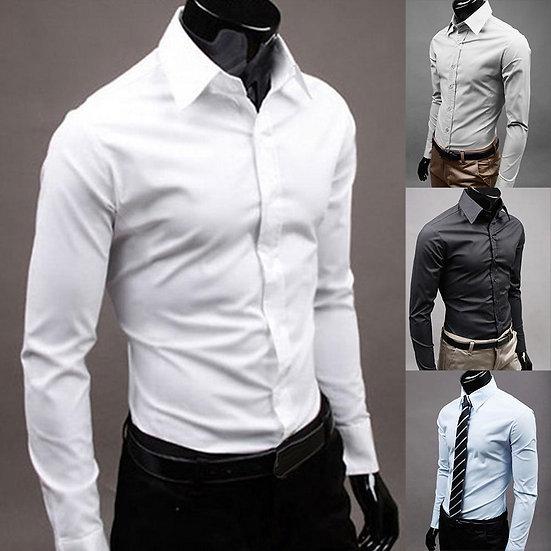 Shirts Men 100% Cotton Long Sleeves