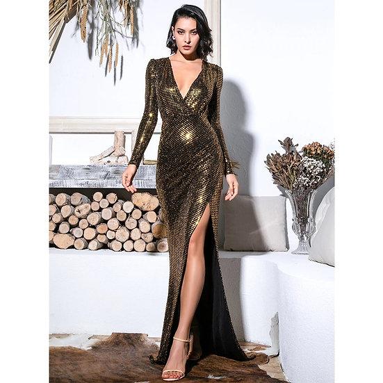 Sasha Gold Sequin Gown