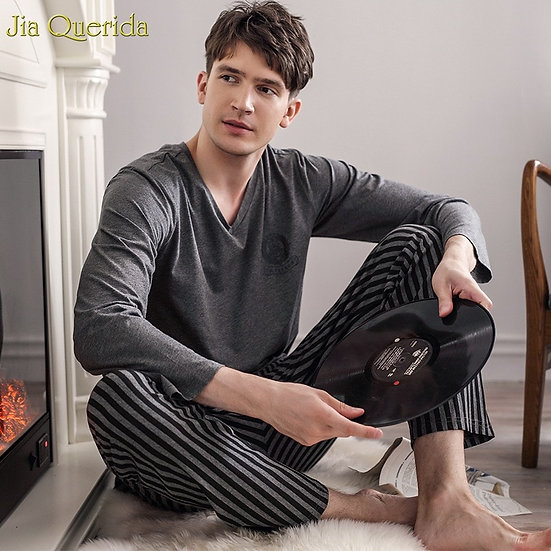 Pajamas Sleeping Suits for Men Fashion Men Sleepwear