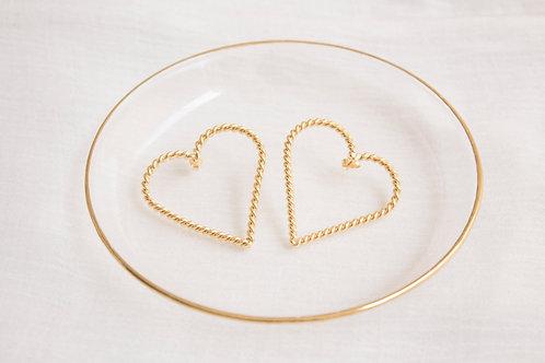 Rolling Heart Earrings