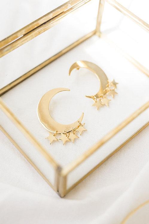 Aretes Luna y Estrellas