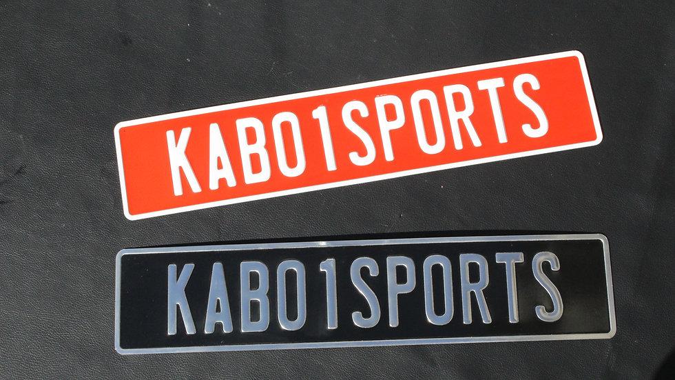 KABO1 SPORTSロゴ CUSTOM PLATE(KABO1STORE専売品)