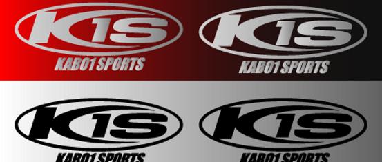 KABO1SPORTSロゴマークステッカー2枚セット(メタリックシルバー、ブラック)