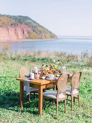 Cliffs on Nova Scotia Fall Wedding