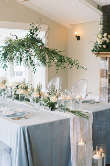 Icy Blue Table Scape