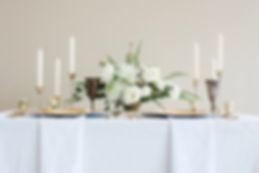 Simpistic White & Gold Tablescape